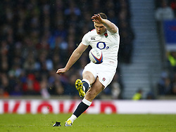 February 10, 2019 - London, England, United Kingdom - Owen Farrell of England ..during the Guiness 6 Nations Rugby match between England and France at Twickenham  Stadium on February 10th,  in Twickenham, London, England. (Credit Image: © Action Foto Sport/NurPhoto via ZUMA Press)