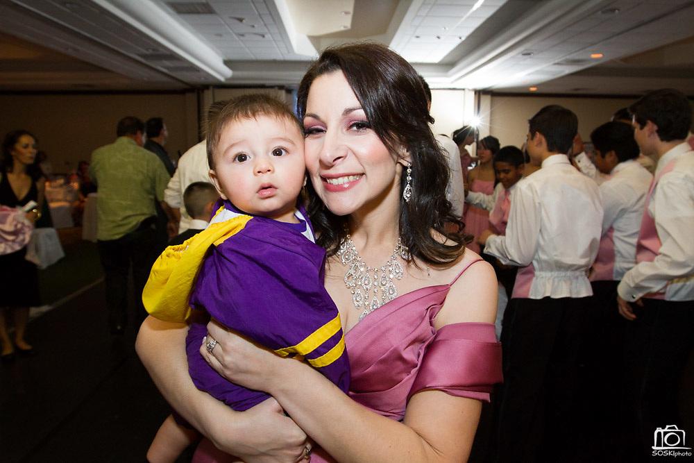 Destinee Torrez celebrates her Quinceanera with family and friends in San Jose, California, on February 4, 2012. (Stan Olszewski/SOSKIphoto)