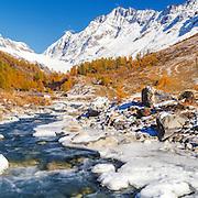 Leutschenthal river and Valley,  Wallis, Switzerland