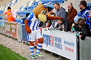 Colchester mascot Eddie the Eagle greeting fans before the EFL Sky Bet League 2 match between Colchester United and Morecambe at the JobServe Community Stadium, Colchester, England on 29 December 2018.