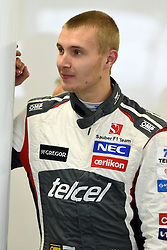 10.10.2014, Sochi Autodrom, Sotschi, RUS, FIA, Formel 1, Grosser Preis von Russland, Training, im Bild Sergey Sirotkin (RUS) Sauber. // during the Practice of the FIA Formula 1 Russia Grand Prix at the Sochi Autodrom in Sotschi, Russia on 2014/10/10. EXPA Pictures © 2014, PhotoCredit: EXPA/ Sutton Images<br /> <br /> *****ATTENTION - for AUT, SLO, CRO, SRB, BIH, MAZ only*****
