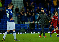 LIVERPOOL, ENGLAND - Sunday, March 3, 2019: Everton's manager Jürgen Klopp after the FA Premier League match between Everton FC and Liverpool FC, the 233rd Merseyside Derby, at Goodison Park. The game ended in a 0-0 draw. (Pic by Laura Malkin/Propaganda)