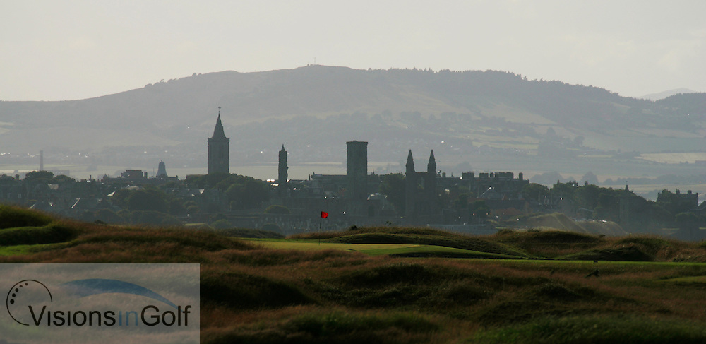St. Andrews Bay GC, Scotland, Torrance Course and St. Andrews town in the background<br /> Photo Credit:  Mark Newcombe / visionsingolf.com