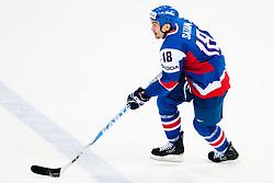 Miroslav Satan of Slovakia during ice-hockey match between Finland and Slovakia of Group E in Qualifying Round of IIHF 2011 World Championship Slovakia, on May 7, 2011 in Orange Arena, Bratislava, Slovakia. (Photo by Matic Klansek Velej / Sportida)