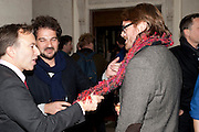 TONY CHAMBERS, JAIME HAYON;  LLOYD THOMAS, Wallpaper Design Awards 2012. 10 Trinity Square<br /> London,  11 January 2011.