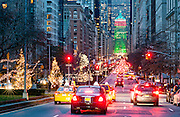 Park Avenue on the Upper East Side, Looking Toward the Helmsley Building, Decorated for Christmas Season, New York City.