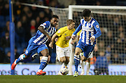 Joao Carlos Teixeira, Brighton midfielder during the Sky Bet Championship match between Brighton and Hove Albion and Derby County at the American Express Community Stadium, Brighton and Hove, England on 3 March 2015.