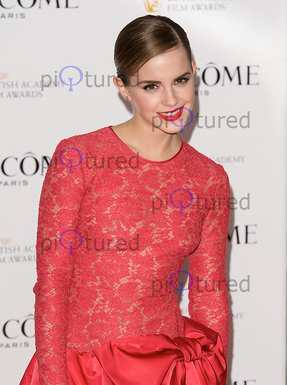 Emma Watson arrives at the Savoy Hotel in London to host the Lancome pre BAFTA party...10th Feb 2012..Pics by Dave Norton / Piqtured