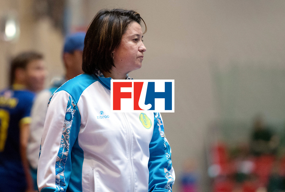 BERLIN - Indoor Hockey World Cup<br /> Kazakhstan - South Africa<br /> foto: URMANOVA Olga <br /> WORLDSPORTPICS COPYRIGHT FRANK UIJLENBROEK