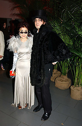 YOKO ONO and SEAN LENNON at Andy & Patti Wong's Chinese New Year party to celebrate the year of the Rooster held at the Great Eastern Hotel, Liverpool Street, London on 29th January 2005.  Guests were invited to dress in 1920's Shanghai fashion.<br />