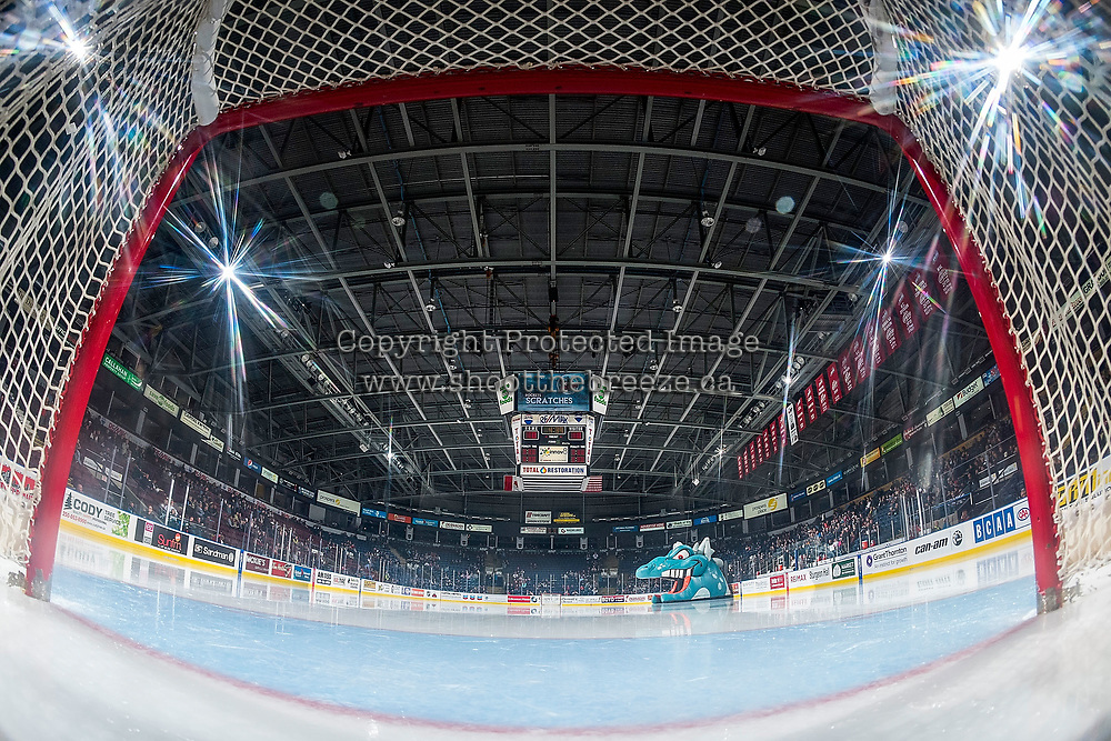 KELOWNA, CANADA - OCTOBER 20: The Kelowna Rockets' host the Portland Winterhawks on October 20, 2017 at Prospera Place in Kelowna, British Columbia, Canada.  (Photo by Marissa Baecker/Shoot the Breeze)  *** Local Caption ***