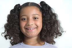 Young girl smiling,
