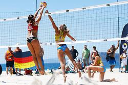 20140605 ITA: EK Beachvolleybal, Cagliari<br /> Kyra Walkenhorst, GER, Jantine van der Vlist, Rimke Braakman<br /> ©2014-FotoHoogendoorn.nl / Pim Waslander