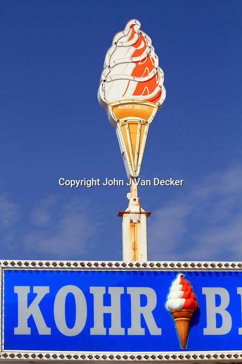 Iconic Kohr Bros custard sign, Wildwood, New Jersey