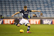 Ben Marshall of Millwall takes a free kick during the EFL Sky Bet Championship match between Millwall and Cardiff City at The Den, London, England on 9 February 2018. Picture by Toyin Oshodi.