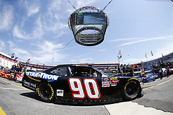 April 13, 2018 - Bristol, Tennessee, United States of America - April 13, 2018 - Bristol, Tennessee, USA: Josh Williams (90) drives his car under Colossus TV during opening practice for the Fitzgerald Glider Kits 300 at Bristol Motor Speedway in Bristol, Tennessee. (Credit Image: © Chris Owens Asp Inc/ASP via ZUMA Wire)