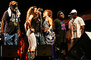 Cimiez, Nice. France. July 22nd 2006..George Clinton's group performs at the Nice Jazz Festival (Scène Jardin)