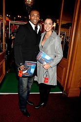 Model GEMMA ATKINSON and footballer MARCUS BENT at the gala night of Varekai by Cirque du Soleil at The Royal Albert Hall, London on 8th January 2008.<br />