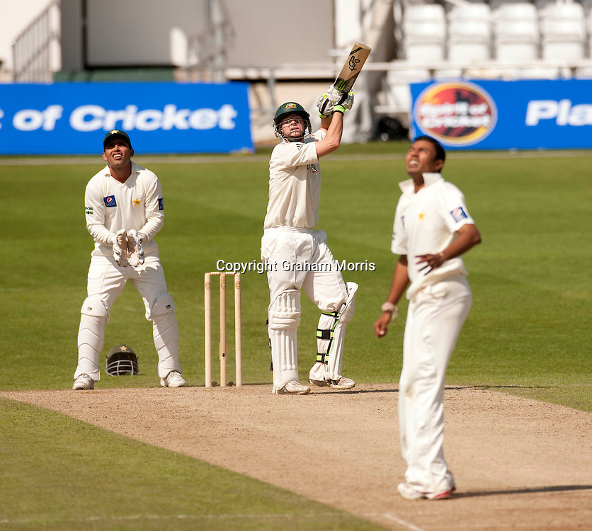 Steve Smith, six off Danish Kaneria during the second MCC Spirit of Cricket Test Match between Pakistan and Australia at Headingley, Leeds.  Photo: Graham Morris (Tel: +44(0)20 8969 4192 Email: sales@cricketpix.com) 23/07/10