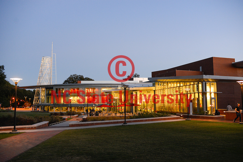 The Talley Student Union at dusk. Photo by Marc Hall