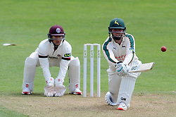 Nottinghamshire's Brendan Taylor reverse sweeps on his way to a century. - Photo mandatory by-line: Harry Trump/JMP - Mobile: 07966 386802 - 14/06/15 - SPORT - CRICKET - LVCC County Championship - Division One - Day One - Somerset v Nottinghamshire - The County Ground, Taunton, England.