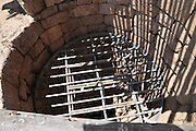Israel, Negev, Tel Be'er Sheva believed to be the remains of the biblical town of Be'er Sheva water well