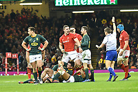 Rugby Union - 2018 Autumn Internationals (Under Armour Series) Wales vs. South Africa<br /> <br /> George North, of Wales celebrates as wales win at The Millennium Stadium.<br /> <br /> COLORSPORT/WINSTON BYNORTH