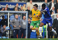 Birmingham - Saturday March 21st, 2009: Radhi Jaidi of Birmingham City and Dave Mooney of Norwich City during the Coca Cola Championship match at St Andrews, Birmingham. (Pic by Alex Broadway/Focus Images)
