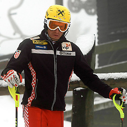 "20111227: CRO, Alpine Ski - Practice session of Ivica Kostelic at the ""Red downhill"" at Zagreb"