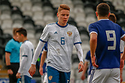 Igor Vorobyev during the U17 European Championships match between Scotland and Russia at Simple Digital Arena, Paisley, Scotland on 23 March 2019.