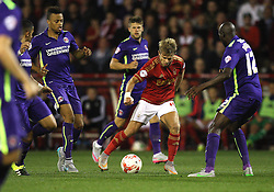 Jamie Ward of Nottingham Forest (C) in action - Mandatory byline: Jack Phillips / JMP - 07966386802 - 18/8/2015 - FOOTBALL - The City Ground - Nottingham, Nottinghamshire - Nottingham Forest v Charlton Athletic - Sky Bet Championship