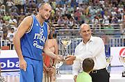 ATENE 29/08/2013<br /> AKROPOLIS CUP  ITALIA-GRECIA<br /> NELLA FOTO PREMIAZIONE MARCO CUSIN<br /> FOTO CIAMILLO