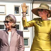 LUX/Luxemburg/20180523 - Staatsbezoek Luxemburg dag 1, Groothertogin Maria Teresa, Koningin Maxima