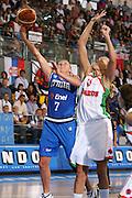DESCRIZIONE : Ortona Italy Italia Eurobasket Women 2007 Bielorussia Italia Belarus Italy <br /> GIOCATORE : Francesca Zara <br /> SQUADRA : Nazionale Italia Donne Femminile <br /> EVENTO : Eurobasket Women 2007 Campionati Europei Donne 2007 <br /> GARA : Bielorussia Italia Belarus Italy <br /> DATA : 03/10/2007 <br /> CATEGORIA : Tiro Mondo <br /> SPORT : Pallacanestro <br /> AUTORE : Agenzia Ciamillo-Castoria/S.Silvestri <br /> Galleria : Eurobasket Women 2007 <br /> Fotonotizia : Ortona Italy Italia Eurobasket Women 2007 Bielorussia Italia Belarus Italy <br /> Predefinita :