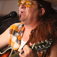 "Judd Wilson, as David Allan Coe, performs, ""You Never Even Called Me By My Name"" during the NEWMS Lip Sync Battle at Steele;s Dive Thursday night in Tupelo."