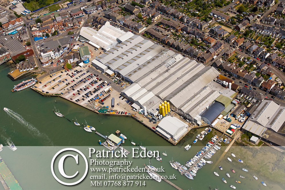 Aerial, Harbour, Yacht haven, GKN Factory, Ferry Terminal, Town, Cowes, Isle of wight, England,UK, Photographs of the Isle of Wight by photographer Patrick Eden photography photograph canvas canvases