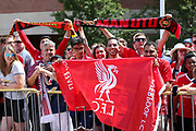 Fans during the Manchester United and Liverpool International Champions Cup match at the Michigan Stadium, Ann Arbor, United States on 28 July 2018.