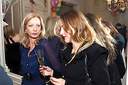 MARY GREENWELL; ALICE TEMPERLEY, Kate Reardon and Michael Roberts host a party to celebrate the launch of Vanity Fair on Couture. The Ballroom, Moet Hennessy, 13 Grosvenor Crescent. London. 27 October 2010. -DO NOT ARCHIVE-© Copyright Photograph by Dafydd Jones. 248 Clapham Rd. London SW9 0PZ. Tel 0207 820 0771. www.dafjones.com.