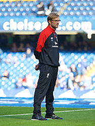 LONDON, ENGLAND - Saturday, October 31, 2015: Liverpool's manager Jürgen Klopp before the Premier League match against Chelsea at Stamford Bridge. (Pic by Lexie Lin/Propaganda)