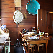 The kitchen at The Katherine Mansfield Birthplace, Wellington. The Katherine Mansfield Birthplace is the childhood home of one of the world's best-known short story writers and New Zealand's most famous author..You can enjoy a virtual visit to this historic family home and garden, as well as discover the life and work of the writer herself at The Katherine Mansfield Birthplace. Tinakori Road. Thorndon. Wellington, New Zealand.  22nd January 2011. Photo Tim Clayton.