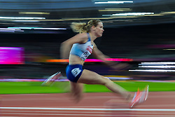 London, 2017 August 07. Eilidh Doyle, Great Britain, in the Women's 400m hurdles semi final on day four of the IAAF London 2017 world Championships at the London Stadium. © Paul Davey.