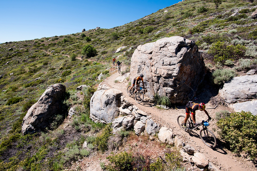 The Pro Men descend the Ash to Kings Trail Sunday.