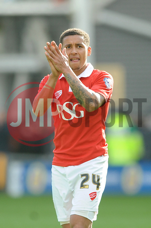 Bristol City's James Tavernier applauds the away fans after the game - Photo mandatory by-line: Dougie Allward/JMP - Mobile: 07966 386802 - 11/04/2015 - SPORT - Football - Preston - Deepdale - Preston North End v Bristol City - Sky Bet League One
