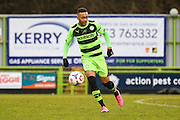 Forest Green's Keanu Marsh-Brown during the Vanarama National League match between Forest Green Rovers and Eastleigh at the New Lawn, Forest Green, United Kingdom on 20 February 2016. Photo by Shane Healey.