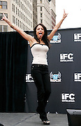 Chef Bethenny Frankel poses at the Season 2 IFC 'Hottest Rocker Mom Contest' finale presentation on the Madison Square Park Traffic Island in New York City, USA on June 3, 2009.