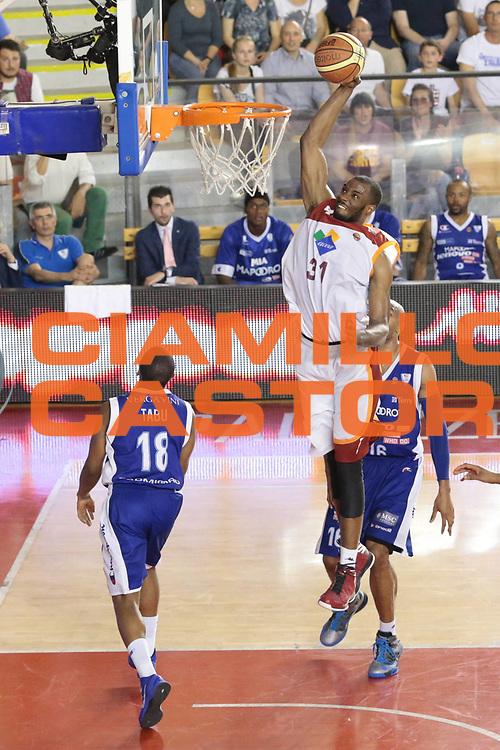 DESCRIZIONE : Roma Lega A 2012-2013 Acea Roma Lenovo Cantu playoff semifinale gara 7<br /> GIOCATORE : Lawal Gani<br /> CATEGORIA : schiacciata<br /> SQUADRA : Acea Roma<br /> EVENTO : Campionato Lega A 2012-2013 playoff semifinale gara 7<br /> GARA : Acea Roma Lenovo Cantu<br /> DATA : 06/06/2013<br /> SPORT : Pallacanestro <br /> AUTORE : Agenzia Ciamillo-Castoria/M.Simoni<br /> Galleria : Lega Basket A 2012-2013  <br /> Fotonotizia : Roma Lega A 2012-2013 Acea Roma Lenovo Cantu playoff semifinale gara 7<br /> Predefinita :
