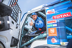 Eduard Nikolaev, Evgeny Yakolev and Vladimir Rybakov (RUS), of KAMAZ – Master at the finish line after the last stage of Rally Dakar 2019 from Pisco to Lima, Peru on January 17, 2019. // Flavien Duhamel/Red Bull Content Pool // AP-1Y5HCDBNH2111 // Usage for editorial use only // Please go to www.redbullcontentpool.com for further information. //
