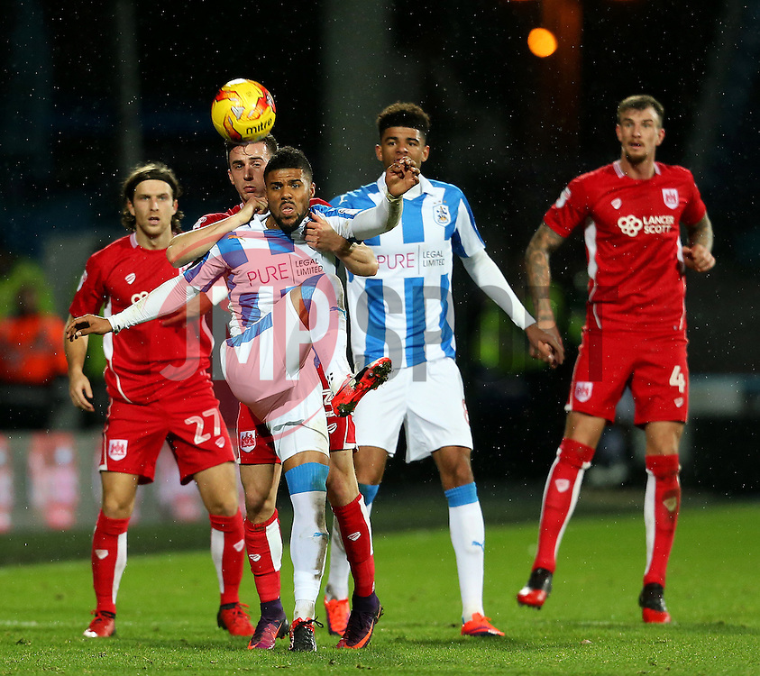 Elias Kachunga of Huddersfield Town in action - Mandatory by-line: Matt McNulty/JMP - 10/12/2016 - FOOTBALL - The John Smith's Stadium - Huddersfield, England - Huddersfield Town v Bristol City - Sky Bet Championship