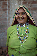 A portrait of Sheela, a farmer in Sendhwa, India.<br /> <br /> Sheela is married to Manga.