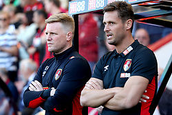 AFC Bournemouth manager Eddie Howe (left) and assistant manager Jason Tindall during the Premier League match at the Vitality Stadium, Bournemouth.